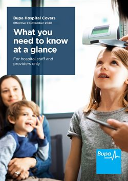 Bupa catalogue ( More than one month )