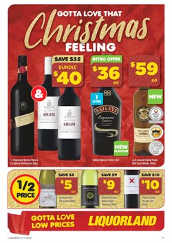 Offers from Liquorland in the Toowoomba QLD catalogue