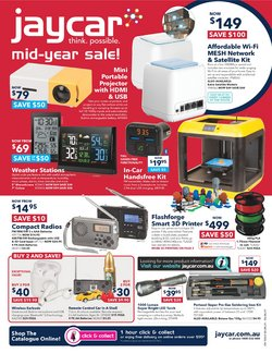 Electronics & Appliances specials in the Jaycar Electronics catalogue ( Expires tomorrow)