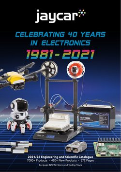 Electronics & Appliances specials in the Jaycar Electronics catalogue ( Published today)