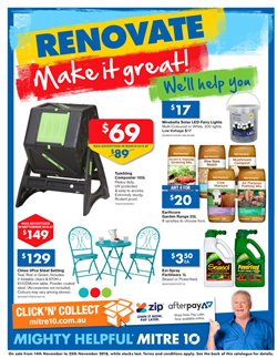 Garden, Tools & Hardware offers in the Mitre 10 catalogue in Sydney NSW