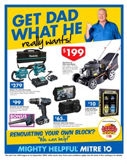 Offers from Mitre 10 in the Adelaide SA catalogue