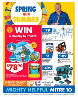 Offers from Mitre 10 in the Sydney NSW catalogue