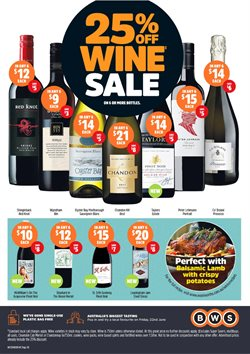 Grocery offers in the BWS catalogue in Bendigo VIC