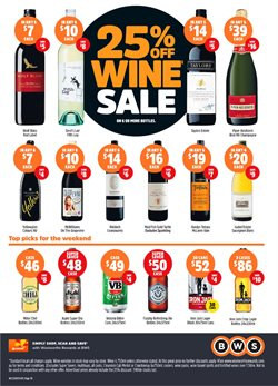 Grocery offers in the BWS catalogue in Bairnsdale VIC