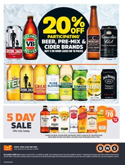 Grocery offers in the BWS catalogue in Lithgow NSW