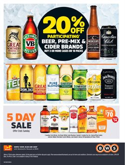 Offers from BWS in the Rockingham WA catalogue
