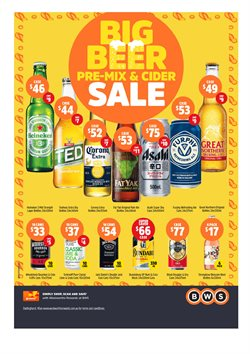 Offers from BWS in the Newcastle NSW catalogue
