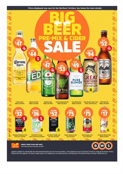 Sales offers in the BWS catalogue in Adelaide SA