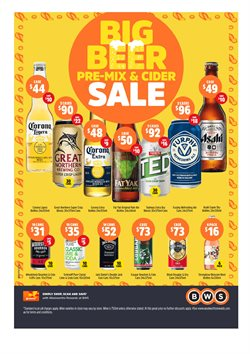 Sales offers in the BWS catalogue in Lakes Entrance VIC