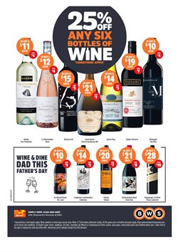 Offers from BWS in the Melbourne VIC catalogue