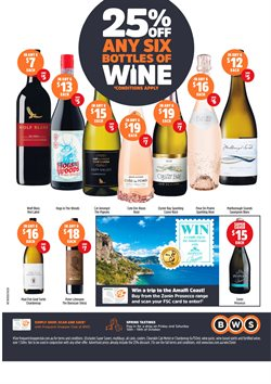 Supermarkets offers in the BWS catalogue in Hobart TAS