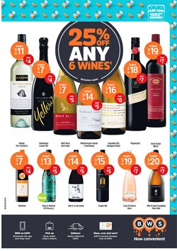 Supermarkets offers in the BWS catalogue in Devonport TAS