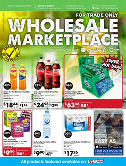 Offers from Campbells Wholesale in the Brisbane QLD catalogue