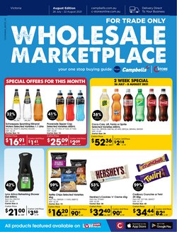 Supermarkets specials in the Campbells Wholesale catalogue ( 18 days left)