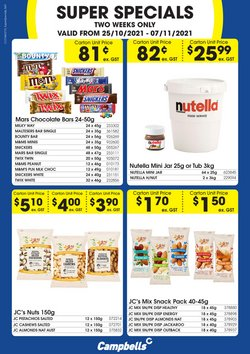 Supermarkets specials in the Campbells Wholesale catalogue ( Published today)