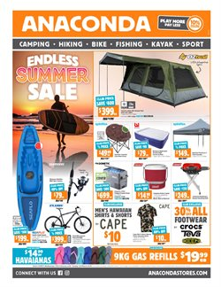 Sport offers in the Anaconda catalogue in Sydney NSW