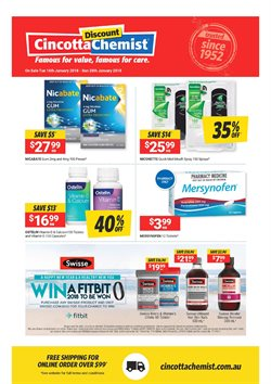 Pharmacy, Beauty & Personal Care offers in the Cincotta Chemist catalogue in Sydney NSW