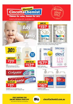Offers from Cincotta Chemist in the Melbourne VIC catalogue