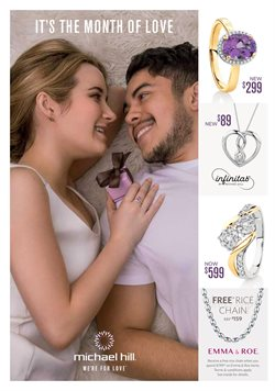 Valentine's Day offers in the Michael Hill catalogue in Sydney NSW