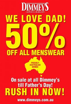 Offers from Dimmeys in the Melbourne VIC catalogue