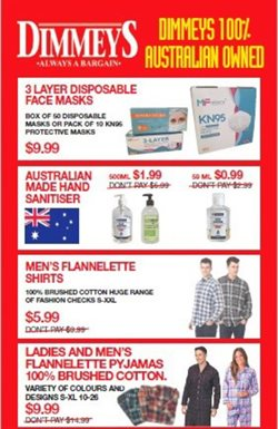 Dimmeys specials in the Dimmeys catalogue ( Expired)