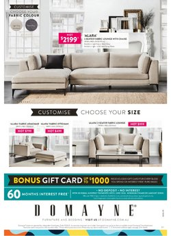 Homeware & Furniture specials in the Domayne catalogue ( 2 days left)