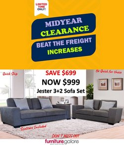 Furniture Galore specials in the Furniture Galore catalogue ( 2 days left)