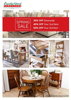 Offers from Eureka Street Furniture in the Brisbane QLD catalogue