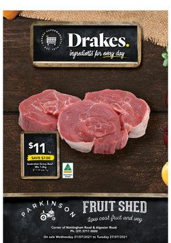 Supermarkets specials in the Drakes catalogue ( Expires tomorrow)