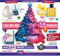 Offers from Wizard Pharmacy in the Perth WA catalogue