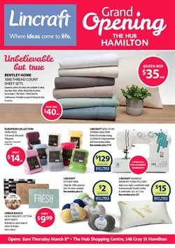 Homeware & Furniture offers in the Lincraft catalogue in Canberra ACT