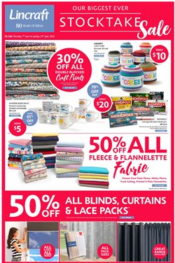 Canberra Outlet Centre offers in the Lincraft catalogue in Canberra ACT