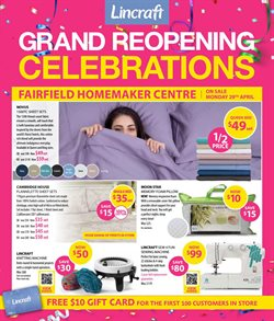 Homeware & Furniture offers in the Lincraft catalogue in Adelaide SA