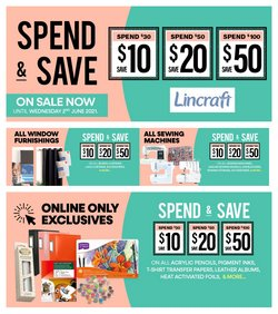 Lincraft specials in the Lincraft catalogue ( Expired)