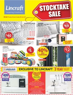 Homeware & Furniture specials in the Lincraft catalogue ( Expires tomorrow)