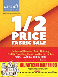 Homeware & Furniture specials in the Lincraft catalogue ( Expires today)