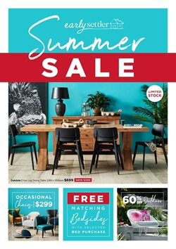 Homeware & Furniture offers in the Early Settler catalogue in Sydney NSW