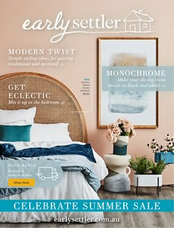 Homeware & Furniture specials in the Early Settler catalogue ( 8 days left)