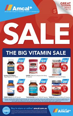 Pharmacy, Beauty & Health offers in the Amcal catalogue in Sydney NSW