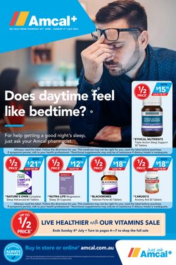 Pharmacy, Beauty & Health specials in the Amcal catalogue ( Published today)