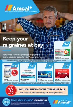 Pharmacy, Beauty & Health specials in the Amcal catalogue ( 3 days left)
