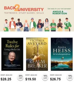 Angus & Robertson specials in the Angus & Robertson catalogue ( 10 days left)