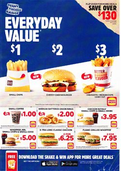 Restaurants offers in the Hungry Jack's catalogue in Helensburgh NSW