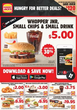 Restaurants offers in the Hungry Jack's catalogue in Sydney NSW