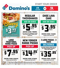 Offers from Domino's Pizza in the Brisbane QLD catalogue