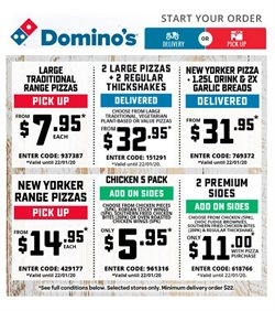 Offers from Domino's Pizza in the Sydney NSW catalogue