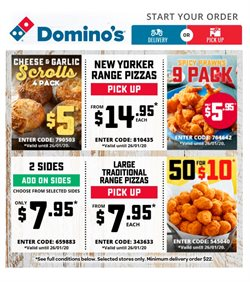 Offers from Domino's Pizza in the Young NSW catalogue
