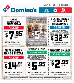 Restaurants offers in the Domino's Pizza catalogue in Melbourne VIC ( Expires today )