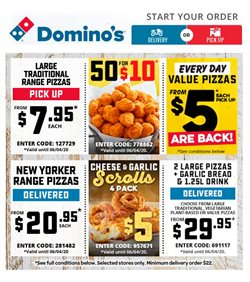 Restaurants offers in the Domino's Pizza catalogue in Adelaide SA ( Expires tomorrow )